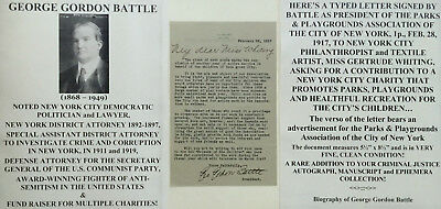 1890S Corruption District Attorney Anti-Semite Us Communist Party Letter Signed!