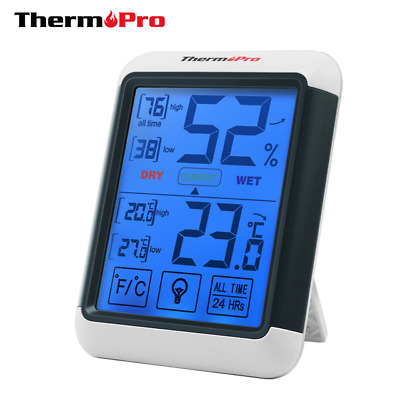 Thermopro Digital Touchscreen Backlight Electronic Indoor Thermometer Hygrometer