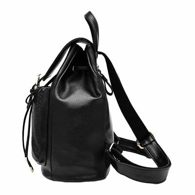 Sac a Dos En Cuir PU leather and polyester Cartable Scolaire College Femme H2E1