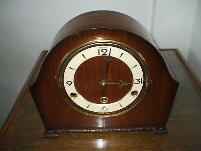 Perivale  Andrew London Vintage Art Deco 8 Day Westminster Chime Mantle Clock