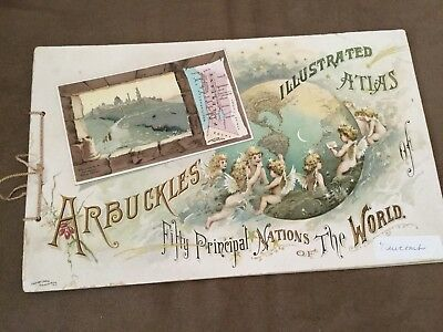 Antique ARBUCKLES ILLUSTRATED FIFTY PRINCIPAL NATIONS OF THE WORLD (1889)