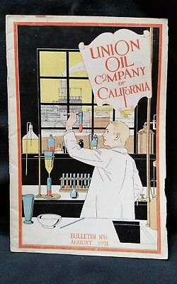 Union Oil Bulletin Employee Vtg Aviation and Automobile 76 Rare August  1921