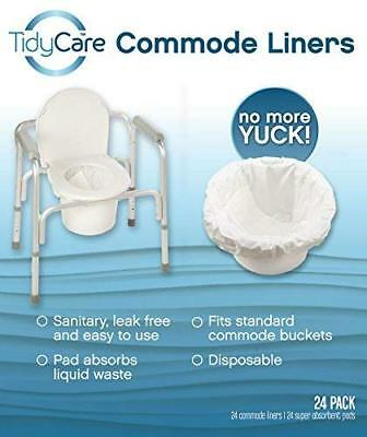 TidyCare Commode Liners – Convenience Pack XL - Bedside Commode Liners - 24