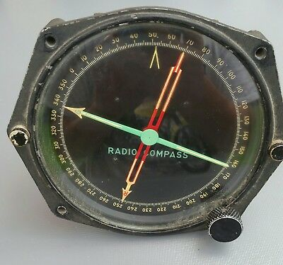 Aviation Luftfahrt Radio Compass  Vintage  DC-4 Dekoration SAS Airlines