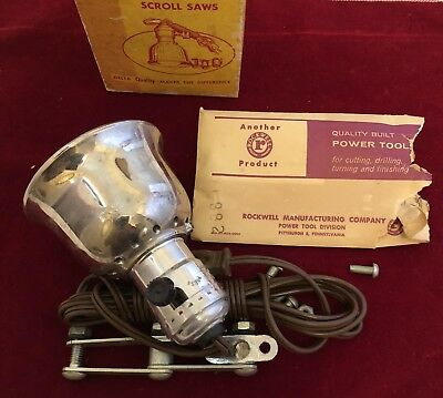 1959 Vintage Delta Rockwell Retirement Light Lamp / Drill Press Scroll Band Saw