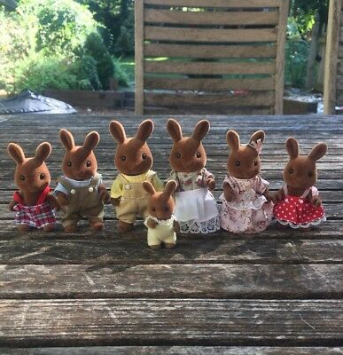 Calico Critters Sylvanian Families Wildwood Celebration Family of 7 HTF