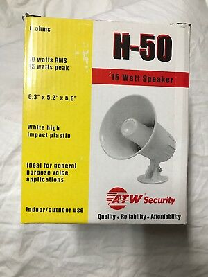 ATW Security Products H-50 15 Watt Horn Speaker  8 ohms White General Purpose