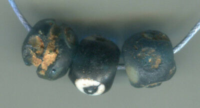 African Trade beads ancient excavated 3 Roman or Islamic glass eye beads Mali #2