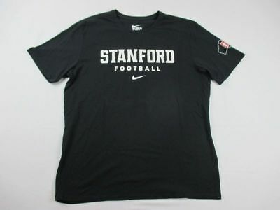 NEW Nike Stanford Cardinal - Black Cotton Short Sleeve Shirt (Multiple Sizes)