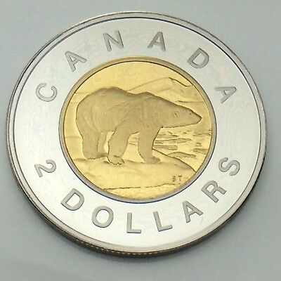 1996 Canada Proof 2 Two Dollar 1st Toonie Canadian Uncirculated Coin F863
