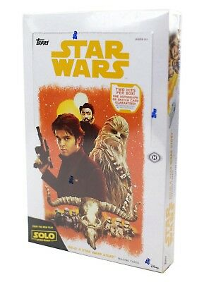 2018 Topps Solo A Star Wars Story FACTORY SEALED Hobby Box Free S&H 2 Hits