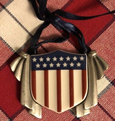 "Longaberger 2001 ""All-American"" Tie-On Basket Accessory, #30816, NIB"
