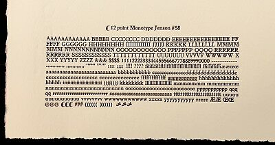"New Letterpress Type - 12 point Jenson ""Golden"""