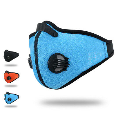 Anti Dust Riding Motorcycle Bicycle Cycling Outdoor Ski Half Face Mask Filter HU