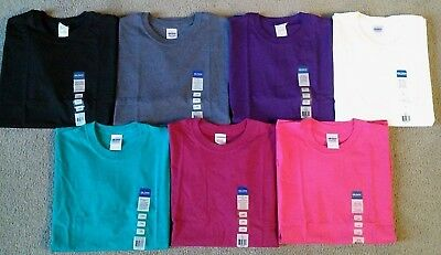 Lot of 7 NWT Gildan Men's Colored Cotton T-Shirts - Size Large