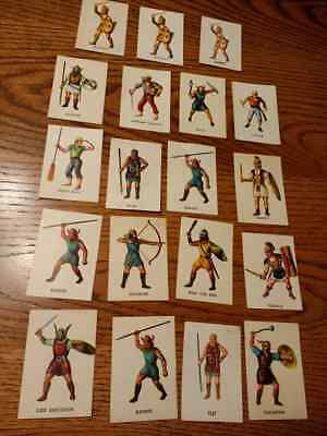 Marx WOW Warriors of the World, Romans and vikings figure cards