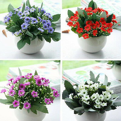 36Heads Artifical Silk Flowers Bouquet Orchid Home Wedding Party Decor/8Colors