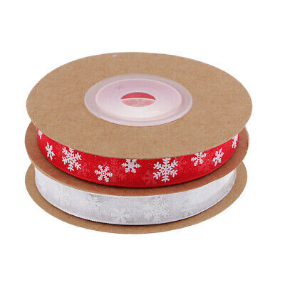 10 METRES OF RIBBON 10mm SOLD ON REELS Christmas Giftwrap Cake Decoration