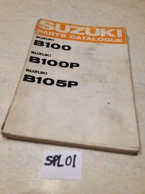 Suzuki parts list B100 B100P B105P B 100 105 P édition 1968