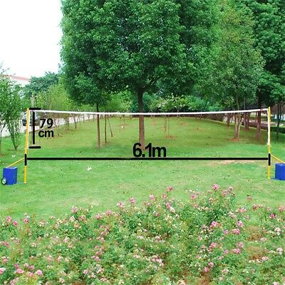 Badminton Tennis Volleyball Net For Beach Garden Indoor Outdoor Games 6.1m*0.79m