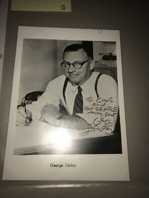 GEORGE LICHTY American Cartoonist Autograph Signed Photo