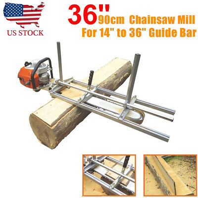 """Chainsaw Guide bar Chain Saw Mill Log Planking Lumber Cutting Fit 14"""" - 36"""""""