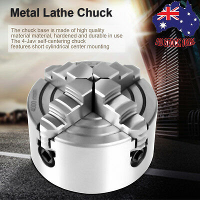 80mm 4 Jaw Metal Lathe Chuck Independent Reversible+Key Handle Recessed Mount AU