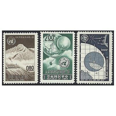 Taiwan 1962 Meteorological Day Scott.1337/9 MUH Set of 3 Stamps (4-6)