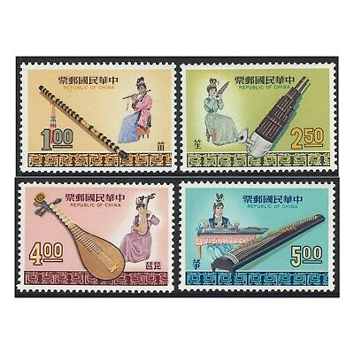 Taiwan 1969 Musical Instruments Scott.1600/3 MUH Set of 4 Stamps (4-6)