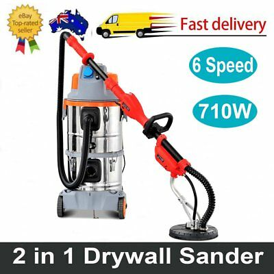 2 in 1 6 Speed 710W Drywall Plaster Board Sander With Vacuum Hose Sanding Disc