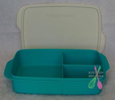 Tupperware Sandwich Keeper Large Divided Lunch Box - Blue - New