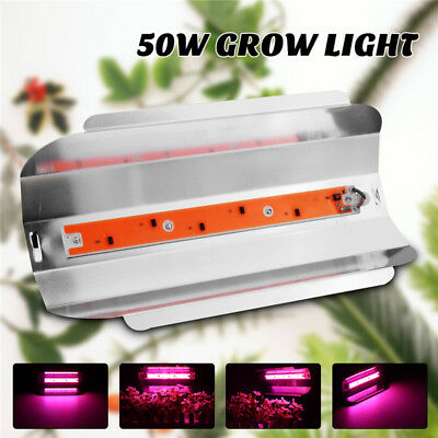 50W LED Full spectrum Planta Grow Luz Lámpara Flood Light Hidroponía Cultivo