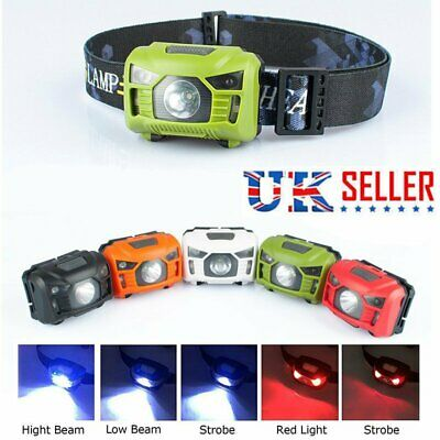 Waterproof Super Bright LED Infrared Headlamp USB Rechargeable Head Torch Hiking