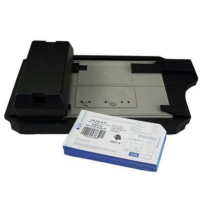 Credit Card Imprinter with 100 Sales Short Slip 2-Part Carbonless Sales Slip