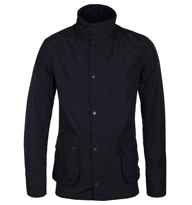 BARBOUR Tailored Lightweight Tech Waterproof Breathable Jacket Navy Blue size XL