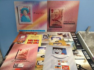 Large Collection Of Stamp Memorabilia - Royal Mail Posters / Sheets
