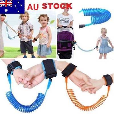 Child Kid Anti-lost Safety Leash Wrist Link Harness Strap Reins Rope Traction AU