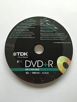 TDK DVD+R 120 Mins 4.7GB 16x Speed Recordable Blank Discs - 25 Pack Shrink Wrap
