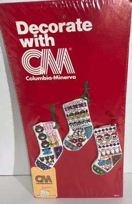 Columbia Minerva 6857 Mini Stocking Display Model Cross Stitch Christmas