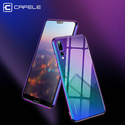 Cafele Aurora Gradient Hard Case Transparent Back Cover For Huawei P20 Pro Lite