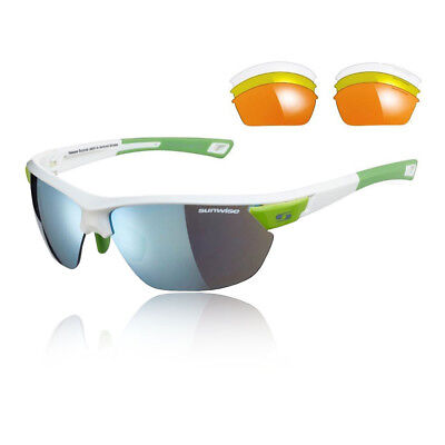 Sunwise Unisex Kennington Interchangeable 4 Sets Of Lenses - White Green Sports