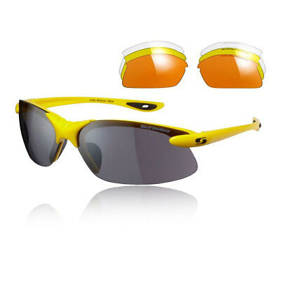 Sunwise Unisex Windrush Interchangeable 4 Sets Of Lenses - Yellow Sports Running