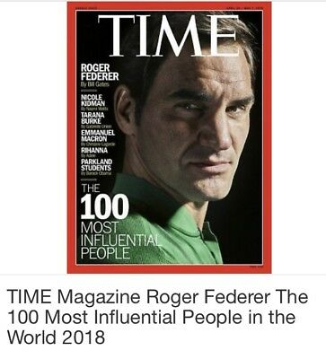Brand New Sealed TIME MAGAZINE 100 Most Influential People 2018 Roger Federer