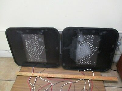 PS7-CFL1-01A *TWO* GE LED Pedestrian Overlay Signals **USED** (tested & working)