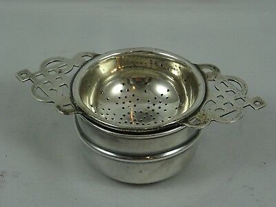 SOLID silver TEA STRAINER ON STAND, 1933, 60gm