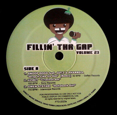 "Various - Fillin' Tha Gap Volume 23 Vinyl 12"" 0714998"