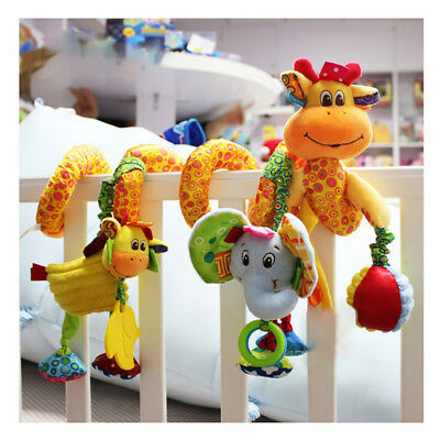 Cute Baby Rattle Mobile Infant Stroller Spiral Plush Toys Mat Crib Hanging Gifts