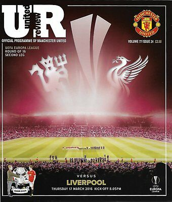 MANCHESTER UNITED v LIVERPOOL Europa League 2015/16 MINT