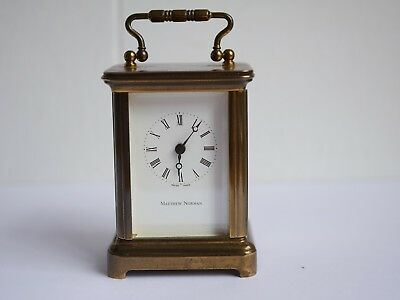 Vintage Matthew Norman 1742 Swiss Made Miniature Carriage Clock