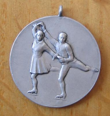 Silver 2nd Place Winner's Medal Pairs Figure Skating Competition 1932 Davos